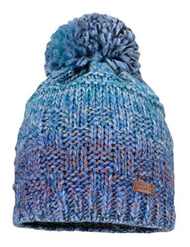 maximo Jungen randlos mit Pompon und Farbverlauf Mütze, Blau (Blaubunt 63), (Herstellergröße: 53/55)