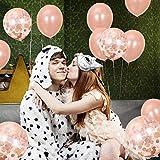 55 Stück Just Married Deko Rosegold Luftballons Set:Helium Buchstaben Folienballons Just Married Banner Girlande,Rose Gold Konfetti Latex Ballons für Bridal Shower Verlobungs Hochzeit Party Dekoration - 9