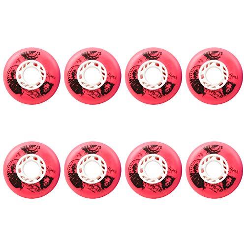 TGHY 84A Inliner Rollen 64mm 68mm 70mm 72mm 76mm 80mm PU-Ersatzrad für Kinder Teenager Erwachsene Skates 8er-Pack,Rot,68mm