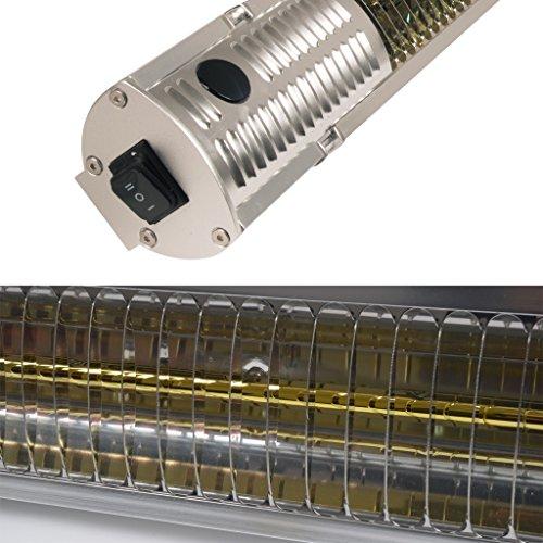 Gardigo Edelstahl Infrarot Heizstrahler | Goldröhre – weniger Stromverbrauch | Wärmt gezielt Menschen | Infrarotstrahler | 4-Stufen | Außenbereich - 5
