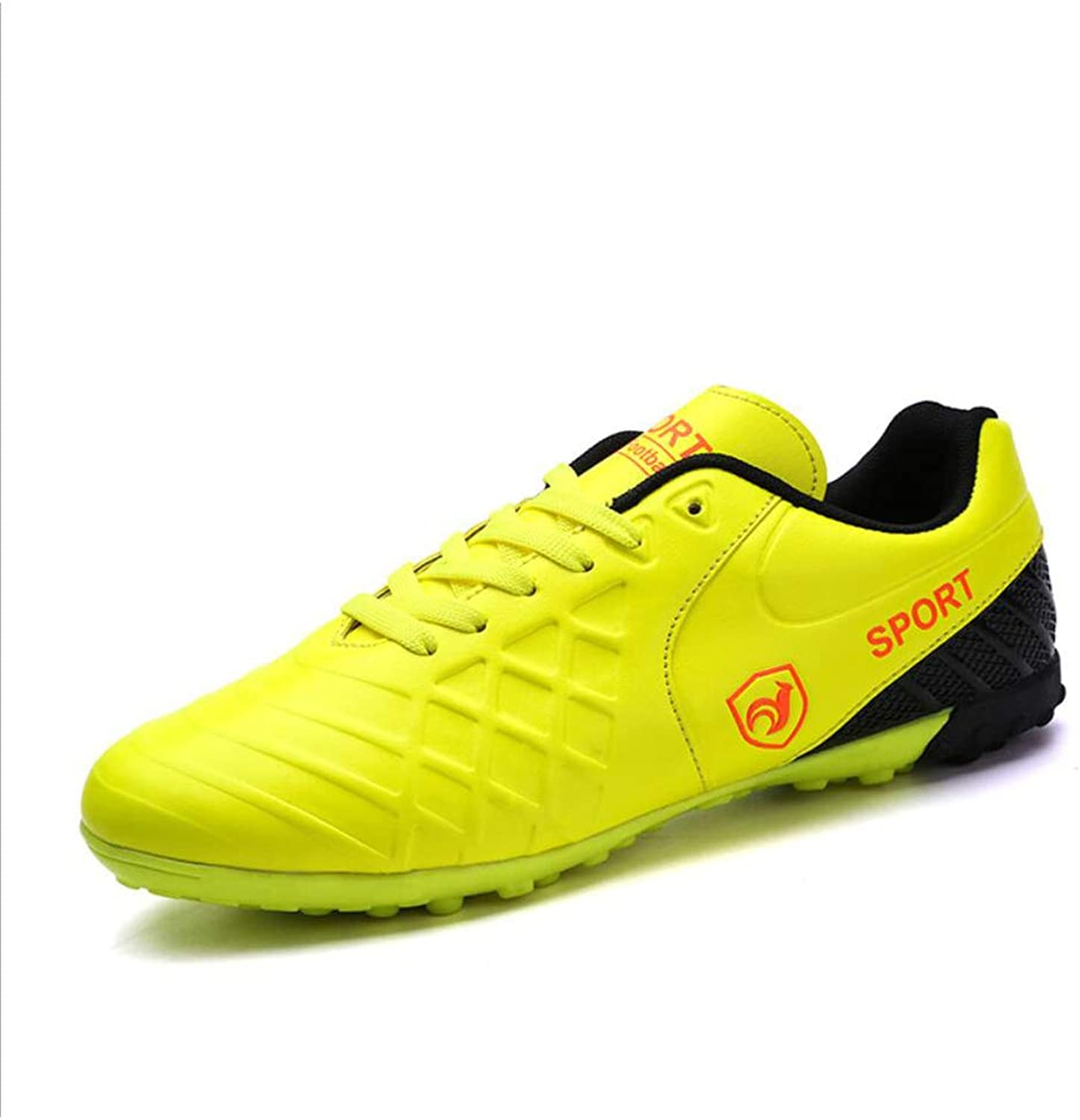 Men's Soccer shoes Personalityn Soccer Cleats Football Boots Football Soccer Anti-Slip,Low-Top Women's Sneakers,Short Spike Training shoes (color   A, Size   42)