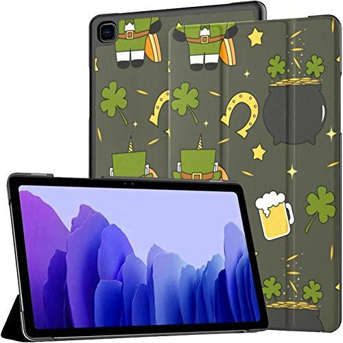 Funda para Tableta Samsung A7 Cute Cartoon St Patricks Day Funda para Samsung Galaxy Tab A7 10.4 Pulgadas Funda Protectora de liberación 2020 Funda Samsung Galaxy A7 Funda para Tableta Funda de cuer