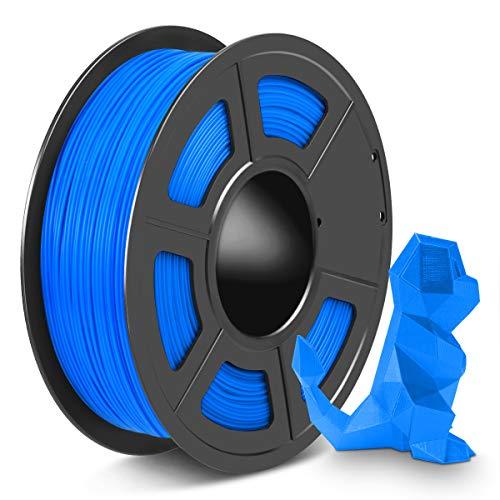 SPLA 3D Printer Filament 1.75mm, PLA Filament and PETG 3D Filament Mix Together, Shiny SPLA 1.75 Blue, 1kg