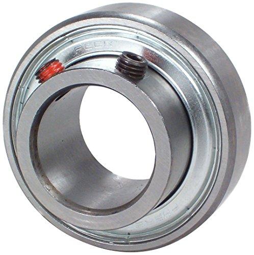 "Peer Bearing FHSR201-8 Insert Bearing, FHSR200 Series, Narrow Inner Ring, Cylindrical Outer Ring, Non-Relubricable, Set Screw Locking Collar, Single Lip Seal, 1/2"" Bore, 13 mm Inner Ring, 22.5 mm Outer Ring, 0.5"" (12.7 mm) ID, 1.575"" (40 mm) OD, 1.575"" (40 mm) Width"