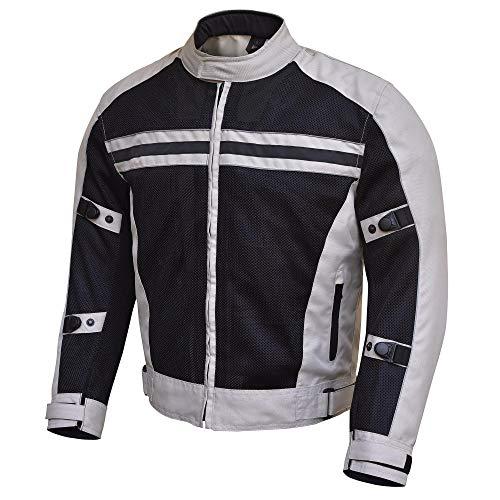 Scottsdale Mens Mesh Summer Motorcycle Jacket Light Gray
