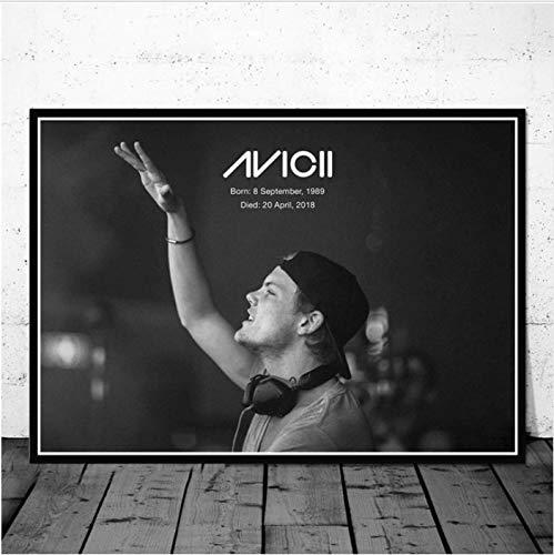 Gemälde Hot Avicii Dj Musik Sänger Star Legend Pop Movie Poster Und Drucke Kunst Leinwand Wandbilder Für Wohnzimmer Wohnkultur 40X60 cm Ohne Rahmen