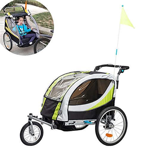 YTBLF Remorque De Vélo pour Enfants, Chariot Pliable avec Housse De Pluie, Remorque pour Animaux De Compagnie pour Équipement De Voyage, Convertible en Poussette/Jogger