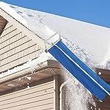 MKIU Rastrillo De Nieve para Tejados, 193-640cm Herramienta Telescópica Y Ligera para Quitar La Nieve De Los Tejados, Sistema para Quitar La Nieve con Tubos Extendidos Extraíbles