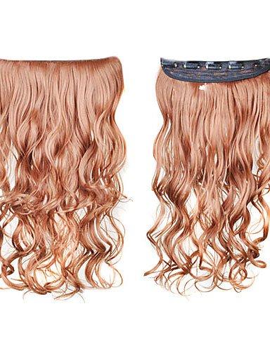 Attachez en synthèse les extensions cheveux bouclés avec clip 5 – 6 couleurs disponibles golden brown