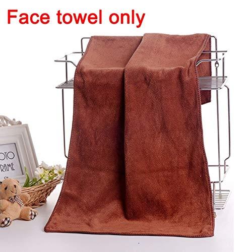 Heliansheng 2 Bolsillos de Toalla de baño mágicos portátiles para Hombres Traje de Falda de Ducha de Toalla Deportiva - Toalla de Cara marrón - 70x140cm