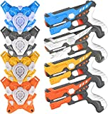 Ainek Infrared Laser Tag Sets with Gun and Vest - Adults & Kids Laser Tag Blaster Gun Set of 4 - Multi Player Laser Battle Game for Indoor and Outdoor - Infrared 0.9mW