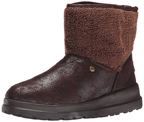 BOBS from Skechers Women's Cherish-Freedom Ride Boot, Chocolate, 7.5 M US