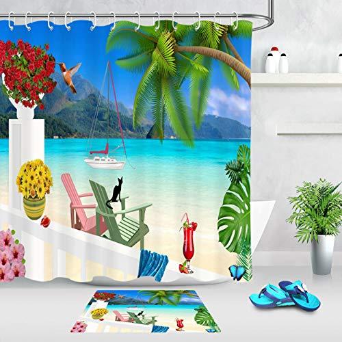ZHWL6688 Jardín de Playa Tropical, Flor, Hoja de Palma 8888