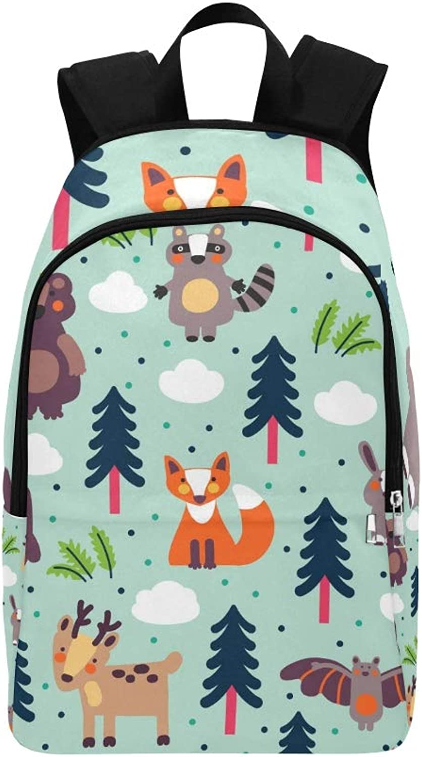 Funny Animal Modern Casual Daypack Travel Bag College School Backpack for Mens and Women