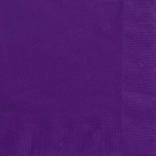 Generique - 50 dunkel lila Papier Servietten