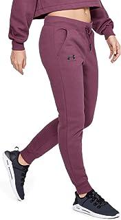 Under Armour Women's Rival Fleece Sportstyle Graphic Pants, Purple (Level Purple/Black), Large