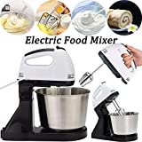 OOFAT 2 in 1 Hand & Stand <span class='highlight'>Mixer</span>, with Whisk, Stainless Steel 220V Kitchen Food Stand <span class='highlight'>Mixer</span> Cream Egg Whisk Blender <span class='highlight'>Cake</span> Dough <span class='highlight'>Mixer</span>