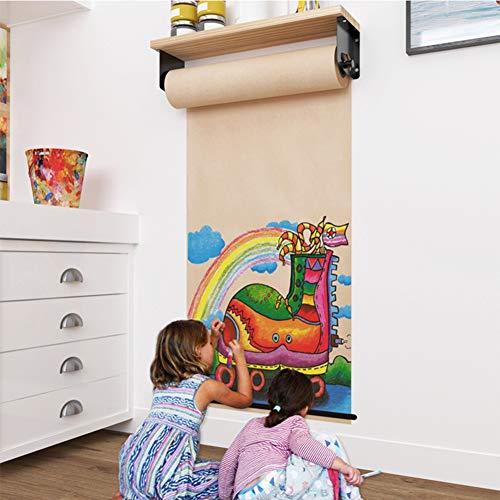 Rollo de Papel Kraft Gadgets Montado en la Pared Papel Kraft Rollo de Papel Holder Dispensador de Papel para Oficina Casa y Café Tienda,40cm*50Meter
