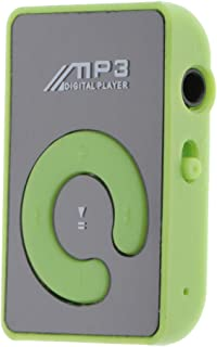Blesiya Portable Clip Mini USB MP3 Music TF Card Up - Green, 44x29x15mm