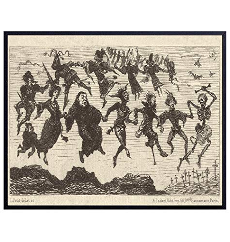 Warlock Witches Decor - Pagan Decor - Wiccan Coven - Wicca Decor - Paganism Witchcraft Supplies - Gothic Wall Art Home Decor - Goth Gifts - Creepy Scary Black Magic - Gothic Living Room Decorations