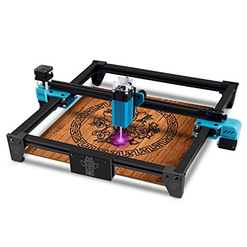 Twotrees Totem S Laser Engraver CNC Laser Engraving Cutting Machine, DIY Laser Marking for Metal 300x300mm (40w Input Power and 5.5w Laser Power) 60% pre-Installed