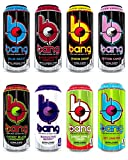 Bang Energy Drink, 0 Calories, Sugar Free with Super Creatine, 8 Flavor Bang Lovers Variety Pack, 16oz, (Pack of 8)