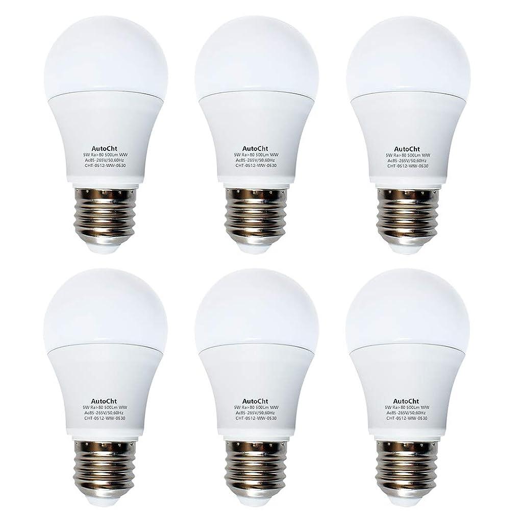 消毒する作曲するカプラーLED電球 E26 5w 40W形相当 電球色 480lm 家庭用省エネ一般電球形全方向タイプ 6個セット
