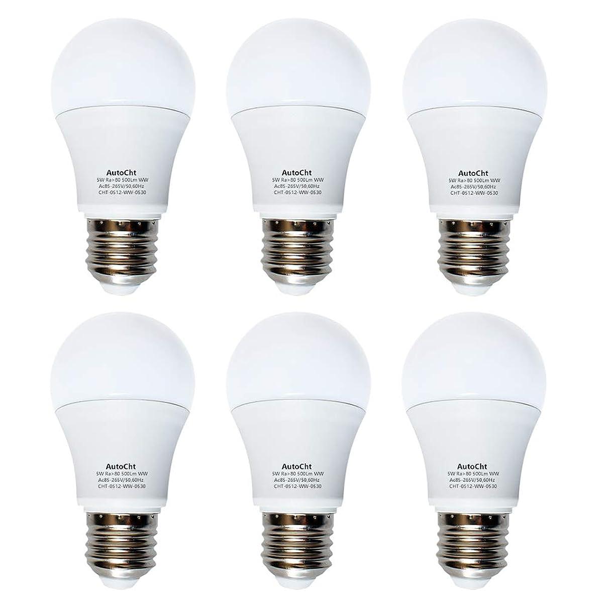 チキンフライト先入観LED電球 E26 5w 40W形相当 電球色 480lm 家庭用省エネ一般電球形全方向タイプ 6個セット