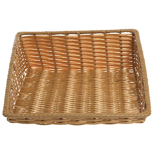 "Tapered Storage Basket, Natural Color, Rectangular - 15 1/2""L x 18""D x 1 1/2"" to 5""H"