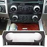 JeCar Central Console Air Conditioner Adjust Switch Panel Cover Trim for Ford F150 2015-2019 (Carbon Fiber)