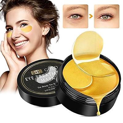 Under Eye Mask, Winpok Collagen Eye Mask, Eye Treatment Masks Anti Aging Eye Patches, 24K Gold Eye Mask for Dark Circles, Wrinkles, Puffy Eyes and Moisturiser, 30 Pairs Eye Masks