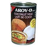 Aroy-D- Leche de Coco - Extracto de Coco para Postres- Producto de Indonesia - 400 Ml