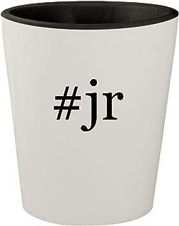 #jr - White Outer & Black Inner Hashtag Ceramic 1.5oz Shot Glass