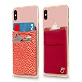 (Two) Stretchy Cell Phone Stick on Wallet Card Holder Phone...