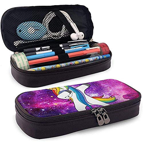 Magic Horse Space Galaxy PU Leather Pen Pen Bag 20 * 9 * 4 cm (8X3.5X1.5 Inches) Pouch Case Holder College Coin Purse Cosmetic Bag