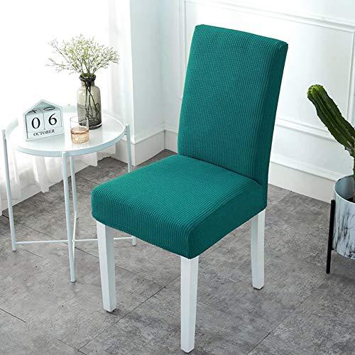 Wkd-thvb Funda de silla de tela polar suave de tela elástica de Spandex para comedor o cocina cubierta de silla elástica con espalda verde negruzco tamaños universales