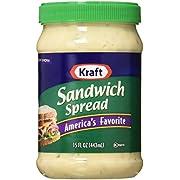 Kraft, Sandwich Spread, 15oz Plastic Jars (Pack of 3)
