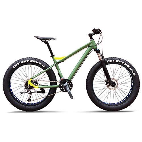 Xiaoyue 27-velocità Mountain Bike, Professionali 26 Pollici for Adulti Fat Tire Hardtail Mountain Bike, Telaio in Alluminio Sospensione Anteriore all Terrain Bicicletta, C lalay