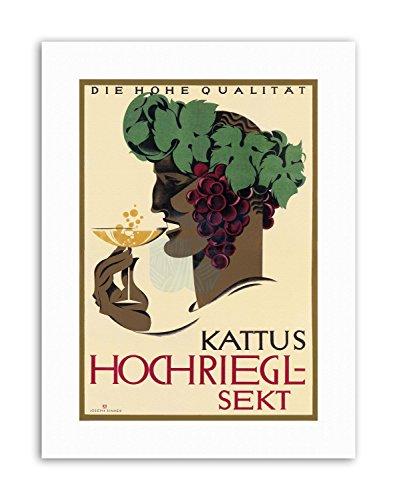 Wee Blue Coo AD KATTUS HOCHRIEGL-Sekt Wine Alcohol Vienna Austria Canvas Art Prints