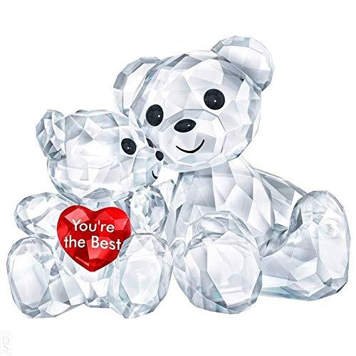 Swarovski Kris Bear - You are the Best Figurine, Crystal, Multicoloured Light 3.3 x 4.9 x 2.9 cm