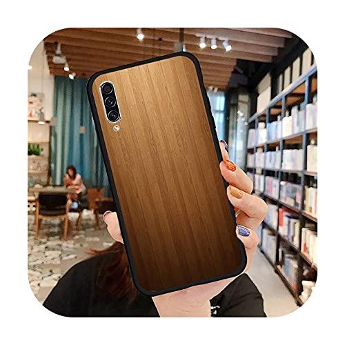 moda de madera moda teléfono caso para Samsung A20 A30 30s A40 A7 2018 J2 J7 prime J4 Plus S5 Note 9 10 Plus cubierta funda-a4-Samsung A20