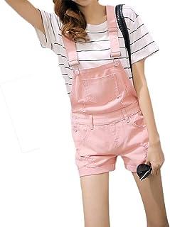 15e7d9b7248e2f Amazon.fr : Salopette Jeans Femme - Rose : Vêtements