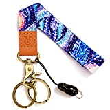 Wrist Lanyards Key Chain Holder Premium Quality Wristlet Keychain for Women (Painting Blue)