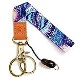 Wrist Lanyards Key Chain Holder Premium Quality Wristlet Keychain for Women (painting blue)