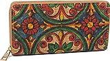 styleBREAKER Billetera de Corcho para Mujeres con Estampado de Colores en Aspecto étnico, Cremallera, Cartera 02040138, Color:Rojo-Verde-Azul-Amarillo