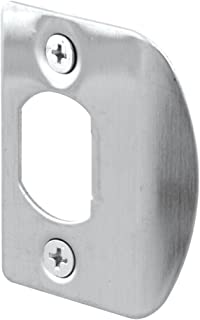 Defender Security E 2301 Standard Latch Strike, 1-5/8 in. Hole Spacing, Stainless Steel, Pack of 2
