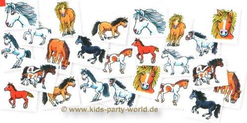 24 Mini-Tattoos * PFERDE * von Lutz Mauder // 7245 // Kindergeburtstag Mitgebsel Ponny Mottoparty Kinder Geburtstag