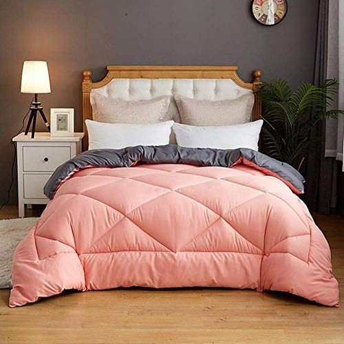 sjdxd Duvet, Thicken Warm Winter Quilt Down Velvet Filled Core Anti Dust Mite Threads Moisture/gas-permeable Multiple Styles Choose Quilt 200x230cm (Color : Pink, Size : 200x230cm)