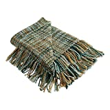 DII Organic Modern Varigated Acrylic Woven Throw, 50x60, Teal