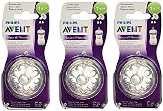 Philips Avent Natural Nipple Slow Flow - 6 Pack